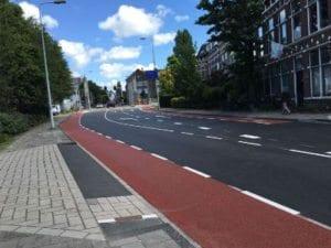 Groot onderhoud Haagweg in Leiden, nieuwe situatie