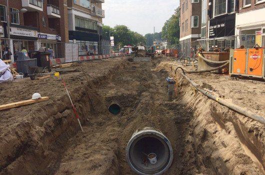 Civieltechnisch project in uitvoering: Gemeente Beverwijk werkzaamheden Breestraat